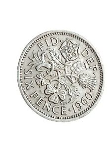 1960 GREAT BRITAIN 6 PENCE SIXPENCE QUEEN ELIZABETH II COLLECTABLE COIN 280320