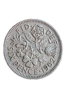 1962 GREAT BRITAIN 6 PENCE SIXPENCE QUEEN ELIZABETH II BRITISH COIN 280320 2