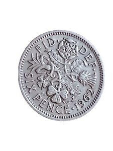 1962 GREAT BRITAIN 6 PENCE SIXPENCE QUEEN ELIZABETH II BRITISH COIN 280320 3