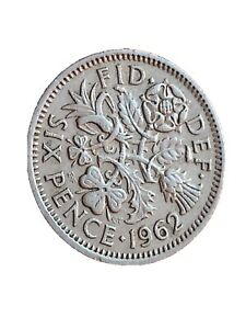 1962 GREAT BRITAIN 6 PENCE SIXPENCE QUEEN ELIZABETH II BRITISH COIN 280320 4