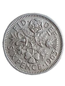 1963 GREAT BRITAIN 6 PENCE SIXPENCE QUEEN ELIZABETH II BRITISH COIN 280320  1