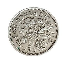 1963 GREAT BRITAIN 6 PENCE SIXPENCE QUEEN ELIZABETH II BRITISH COIN 280320 2