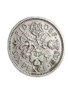 1963 GREAT BRITAIN 6 PENCE SIXPENCE QUEEN ELIZABETH II BRITISH COIN 280320 4