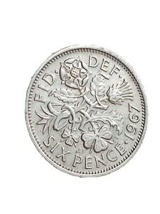 1967 GREAT BRITAIN 6 PENCE SIXPENCE QUEEN ELIZABETH II LUCKY COIN 280320 1