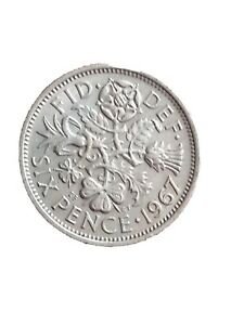 1967 GREAT BRITAIN 6 PENCE SIXPENCE QUEEN ELIZABETH II LUCKY COIN 280320 2