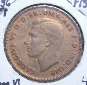 1944 M AUSTRALIA LARGE PENNY UNCIRCULATED