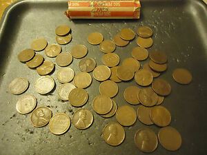 1952 D LINCOLN WHEATS CIRCS ROLL       > C/S & H AVAILABLE <