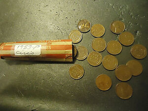 1953 P ROLL OF LINCOLN WHEAT CIRCS CENTS  > C/S & H AVAILABLE <