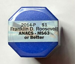 2014 P FRANKLIN ROOSEVELT PRESIDENTIAL DOLLAR ANACS MS63 UNCIRCULATED