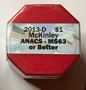 2013  D WILLIAM MCKINLEY PRESIDENTIAL DOLLAR COIN ANACS MS63 UNCIRCULATED