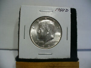 Click now to see the BUY IT NOW Price! 1964 D   KENNEDY    HALF  DOLLAR      50 CENT PIECE   COIN   64    NICE  GRADE