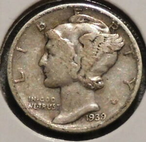 MERCURY SILVER DIME   1939 S   GOTTA SELL 'EM ALL    $1 UNLIMITED SHIPPING 069