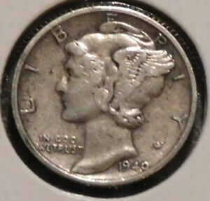 MERCURY SILVER DIME   1940 S   GOTTA SELL 'EM ALL    $1 UNLIMITED SHIPPING 074