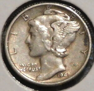 MERCURY SILVER DIME   1941 S   GOTTA SELL 'EM ALL    $1 UNLIMITED SHIPPING 082