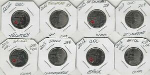 CDN SET OF 8 COMMEMORATIVE QUARTERS SET COLOR AND NON COLORED  TAKE A LOOK