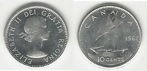 CANADIAN 1962 BU/UNC DIME .800 SILVER COIN..TAKE A LOOK