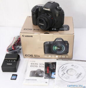 CANON EOS 5DS 50.6MP DSLR CAMERA   CANON STM 50MM 1.8 LENS   BATTEY   CHARGER