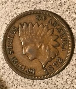 Click now to see the BUY IT NOW Price! 1892 INDIAN HEAD CENT  NICE SOLID COIN