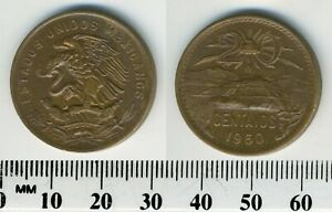 MEXICO 1960   20 CENTAVOS BRONZE COIN   PYRAMID OF THE SUN AT TEOTIHUACN   2