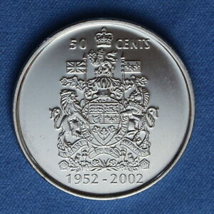 CANADA 2002 HALF DOLLAR  50 CENTS  FROM A MINT ROLL