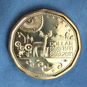 CANADA 2011 LOONIE FROM A MINT ROLL   SPECIAL PARKS CANADA REVERSE