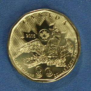 CANADA 2016 LOONIE FROM A MINT ROLL   SPECIAL OLYMPIC LUCKY LOONIE REVERSE