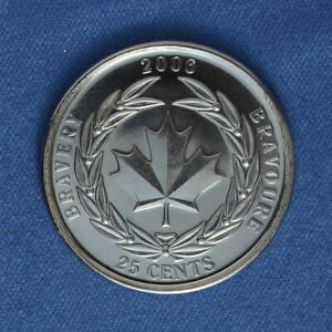 CANADA 2006 BRAVERY QUARTER  25 CENTS  FROM A MINT ROLL