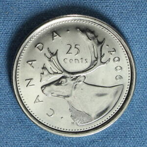 CANADA 2006 QUARTER WITH RCM LOGO  25 CENTS  FROM A MINT ROLL