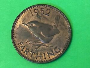 1952 FARTHING COIN KING GEORGE VI