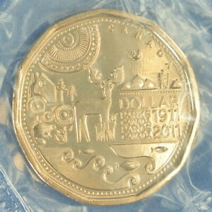 CANADA 2011 PARKS CANADA LOONIE    BUSINESS STRIKE FROM MINT PACK