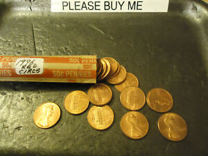 1996 LINCOLN CENT ROLL      RED CIRCS           S&H   C/S