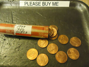 1999 LINCOLN CENT ROLL      RED CIRCS           S&H   C/S