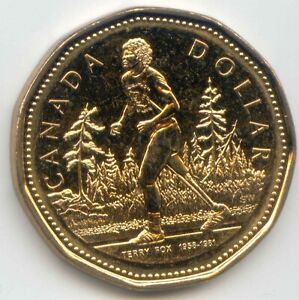 CANADA 2005 LOONIE CANADIAN ONE DOLLAR $1 TERRY FOX EXACT COIN UNC