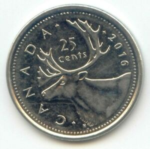 CANADA 2016 QUARTER CANADIAN 25 CENT 25C EXACT COIN SHOWN