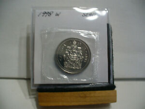 1998 W CANADA  HALF  DOLLAR TOP GRADE  50 CENT PIECE  98W  PROOF LIKE  SEALED
