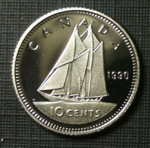 1990 CANADA 10 CENTS PROOF