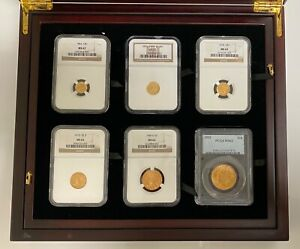 Click now to see the BUY IT NOW Price! 1853 1932  12  PIECE PRE 1933 U.S. GOLD COIN TYPE SET NGC & PCGS CERTIFIED W/BOX