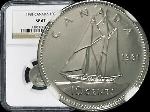 Click now to see the BUY IT NOW Price! 1981 CANADA 10 CENTS   NGC SP67  SUPERB GEM SPECIMEN    TOP 10