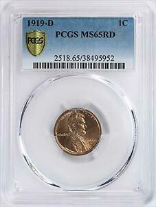 Click now to see the BUY IT NOW Price! 1919 D LINCOLN CENT PCGS MS65RD