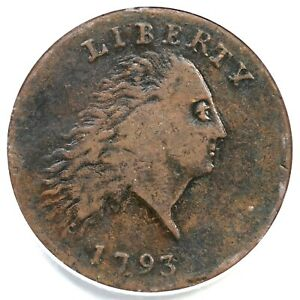 1793 S 3 R 3  PCGS VF 25 AMERICA CHAIN LARGE CENT COIN 1C