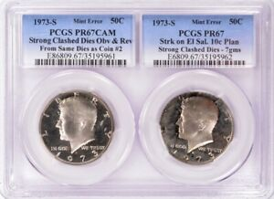 Click now to see the BUY IT NOW Price! PCGS 1973 S PROOF KENNEDY HALF STRUCK ON EL SALVADOR 10 CENTAVOS PLANCHET PR67