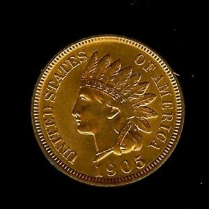 Click now to see the BUY IT NOW Price! 1905 INDIAN HEAD PENNY APPEARS A NICE GEM   UNCIRCULATED RED @OUTSTANDING@