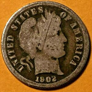 1902 O BARBER DIME   BETTER DATE/LOW MINTAGE   NICE LOW END SILVER COIN