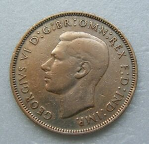 GREAT BRITAIN COIN ONE   1   PENNY 1938 GEORGE VI BRONZE 30.8MM