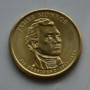 JAMES MONROE 1 DOLLAR   FROM COMMEMORATIVE COIN ROLL    UNCIRCULATED