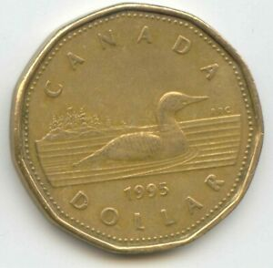 CANADA 1995 LOONIE CANADIAN ONE DOLLAR 1 $1 EXACT COIN SHOWN