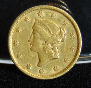 1852 LIBERTY HEAD $1 GOLD DOLLAR COIN TYPE 1 EXTRA FINE PRE 1933