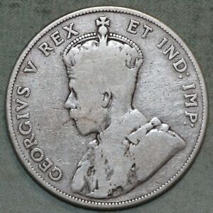 CANADA 1911 STERLING SILVER 50 CENT COIN   KEY