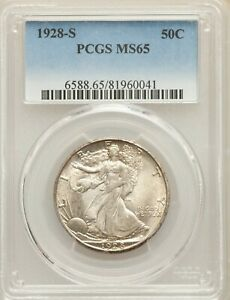 Click now to see the BUY IT NOW Price! 1928 S SILVER LIBERTY WALKING HALF DOLLAR 50C PCGS MS65 65 GEM PRICED TO SELL