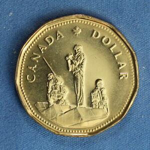 CANADA 1995 LOONIE FROM A MINT ROLL   SPECIAL PEACE KEEPING REVERSE